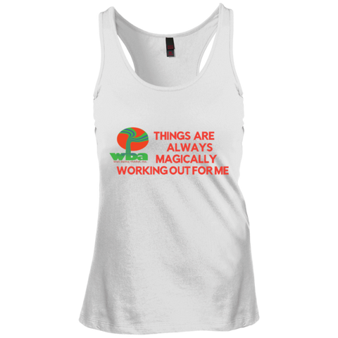 "Juniors Create Your Own Racerback Tank Top Spiritual Inspirational Affirmation ""Things Are . . ."" - Well Being Addict.Com"