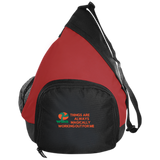 "Active Sling Pack Spiritual Inspirational Affirmation ""Things are.."" - Well Being Addict.Com"