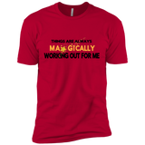 "Next Level Premium Short Sleeve Tee POSITIVE AFFIRMATION ""THINGS ARE ALWAYS MAGICALLY WORKING OUT FOR ME"""