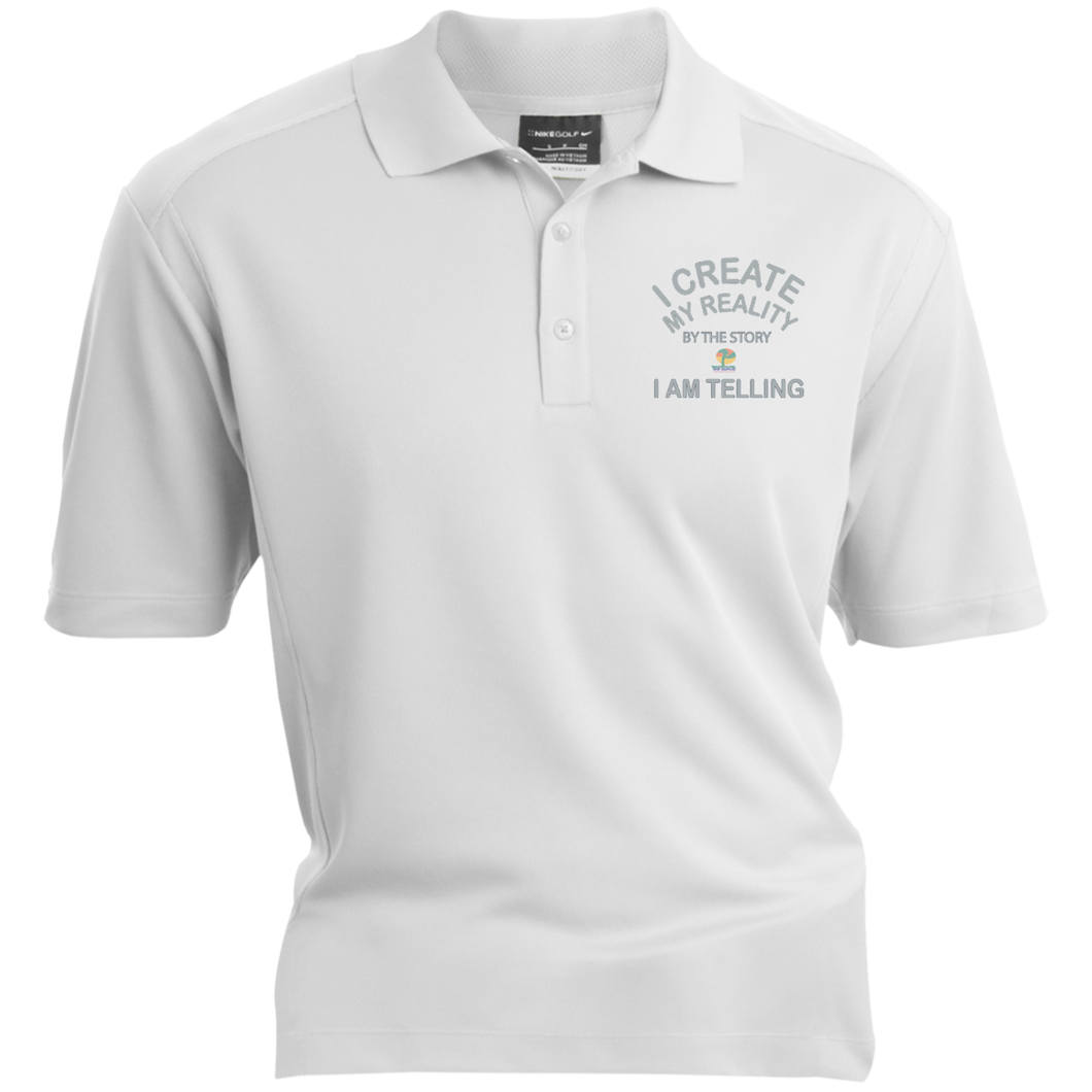 "Nike® Dri-Fit Polo Shirt-Spiritual Inspirational Affirmation – ""I Create my Reality. . ."