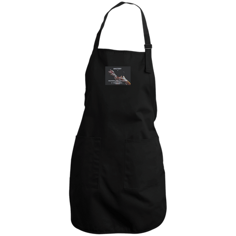 "Full Length Apron -Spiritual Inspirational Affirmation – Cosmetologist ""Mastery is . . . """