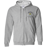 "Customized Spiritual Inspirational Affirmations Embroidered Zip Up Hooded Sweatshirt "" Always Creating. . "" - Well Being Addict.Com"