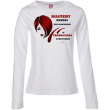 Ladies Long Sleeve Cotton TShirt- Cosmetologist Positive Affirmations - Well Being Addict.Com