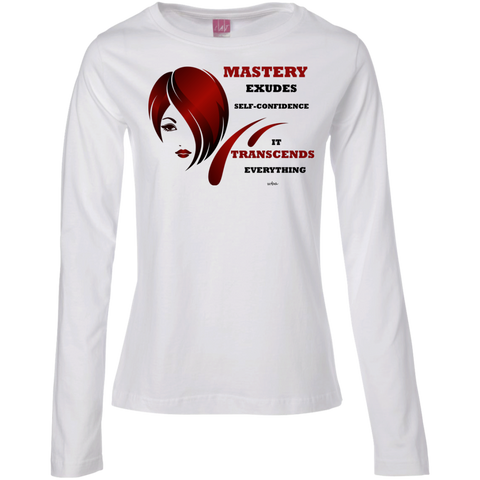 Ladies Long Sleeve Cotton TShirt- Cosmetologist Positive Affirmations