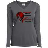Ladies Long Sleeve Vneck Tee-Cosmetologist/Beauty Care Positive Affirmation
