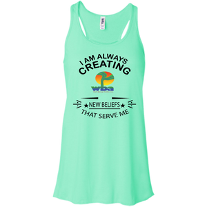 Customized Inspirational Affirmation Racerback Tank - Well Being Addict.Com