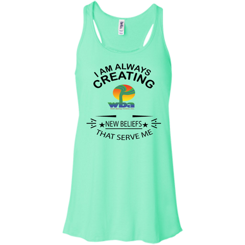 "Bella+Canvas Racerback Tank Spiritual Inspirational Affirmation ""I am always creating"