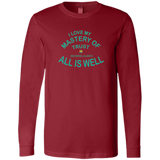 "Bella+Canvas Men's Jersey Long Sleeve-Positive Inspirational Affirmations "" .... MY Mastery of Trust.  """