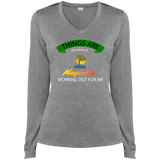 2.aiBANNER REVISED.aiWHITE  Ladies LS Heather Dri-Fit V-Neck Tee