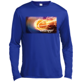 Customized Spiritual Inspirational Affirmation Long Sleeve Moisture Absorbing Shirt -Basketball. - Well Being Addict.Com