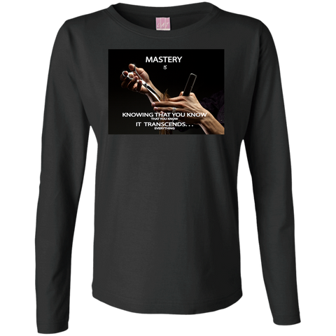 "Customized Inspirational Affirmations Cosmetologist Ladies Long Sleeve - ""Mastery is. . . ."""