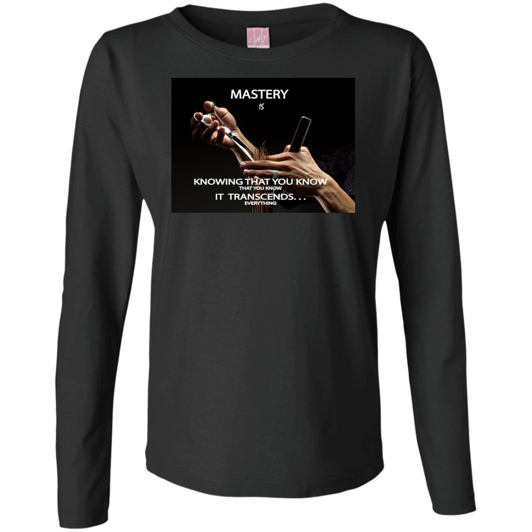 Customized Inspirational Affirmations Cosmetologist Ladies Long Sleeve -