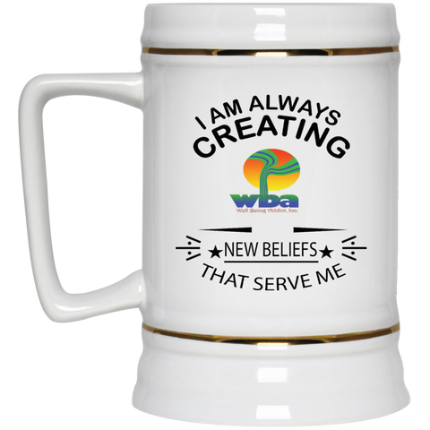Customized Spiritual Inspirational Affirmation Beer Stein - 22 oz 'I Always Creating.. ""