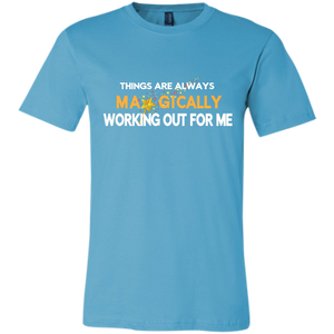 Bella Canvas Unisex Working Out For Me T-Shirt - Well Being Addict.Com