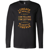 "Bella+Canvas Men's Jersey Long Sleeve Positive Affirmations ""I Create my Reality . . ."" - Well Being Addict.Com"