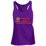 "Juniors Create Your Own Racerback Tank Top Spiritual Inspirational Affirmation ""Things Are . . ."""