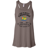 "Bella+Canvas Racerback Tank Spiritual Inspirational Affirmation ""I am always creating - Well Being Addict.Com"