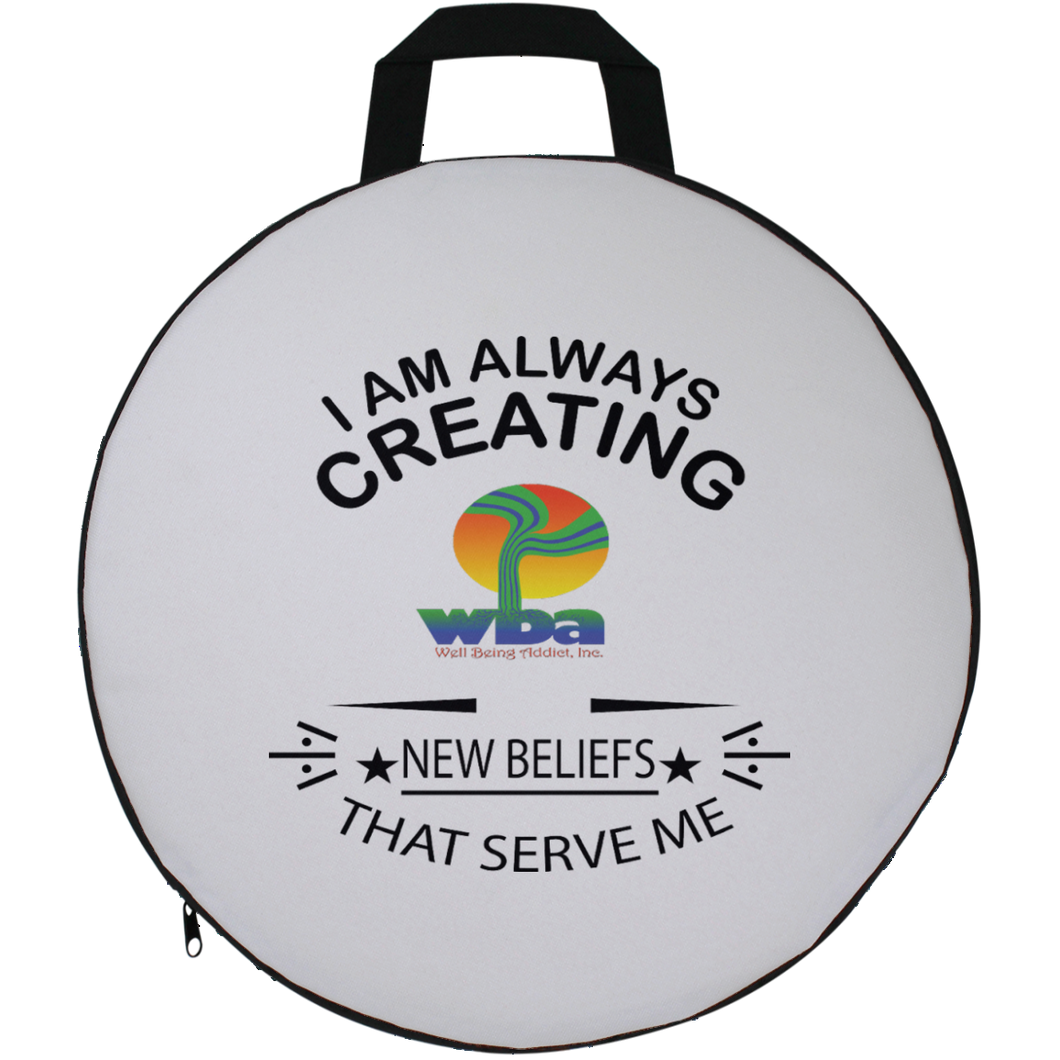 ROUND SEAT CUSHION SPIRITUAL INSPIRATIONAL AFFIRMATION, WELL BEING,