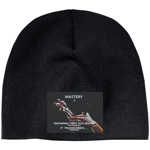 "Customized Cosmetologist Inspirational Affirmation  Beanie- ""Mastery Is . . """