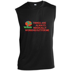 "Sleeveless Performance T Shirt Spiritual Inspirational Affirmation ""Things are Always. ."" - Well Being Addict.Com"