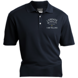 "Nike® Dri-Fit Polo Shirt-Spiritual Inspirational Affirmation – ""I Create my Reality. . ."""