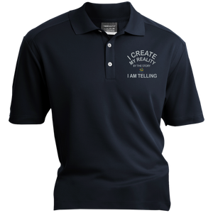 "Nike® Dri-Fit Polo Shirt-Spiritual Inspirational Affirmation – ""I Create my Reality. . ."" - Well Being Addict.Com"