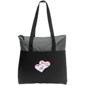 Zip Top Tote-Love Me First - Love Me First - Well Being Addict.Com
