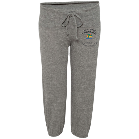 "Alternative Junior Cropped Pants - Customized Inspirational Affirmations "" Always Creating. . "" - Well Being Addict.Com"