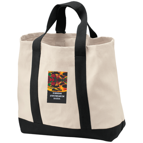 2-Tone Shopping Tote Spiritual Inspirational Affirmation - Well Being Addict.Com