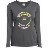 "Customized Spiritual Inspirational Affirmation Ladies Long Sleeve "" I Influence. . "" - Well Being Addict.Com"