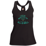 Ladies Shimmer Loop Back Tank - Spiritual Inspirational Affirmation LOA - Well Being Addict.Com
