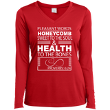 Customized Biblical Inspirational Affirmations Ladies Long Sleeve Performance Vneck Tee - Well Being Addict.Com