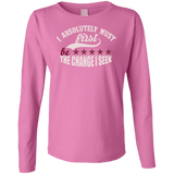Ladies Long Sleeve Cotton TShirt - Well Being Addict.Com