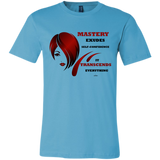 "Unisex Jersey Short-Sleeve T-Shirt Spiritual Inspirational Affirmation – Cosmetologist ""Mastery Exudes . . . "" - Well Being Addict.Com"