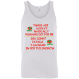"Bella+Canvas Unisex Tank Inspirational Affirmations ""Things are Always Magically. . ."" - Well Being Addict.Com"