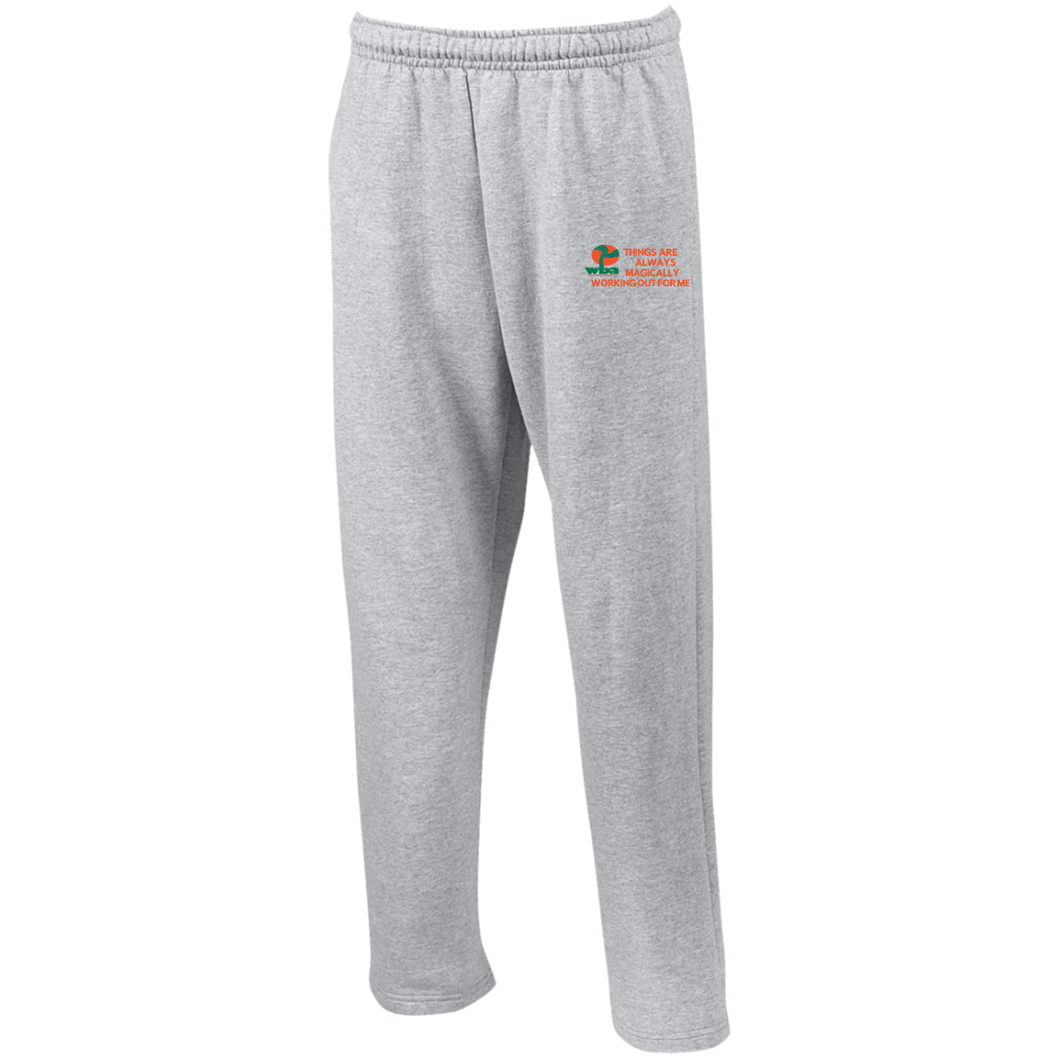 Open Bottom Sweatpants with Pockets