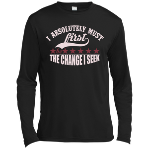 "Customized Spiritual Inspirational Affirmations Long Sleeve Moisture ""I Absolutely. . "" - Well Being Addict.Com"