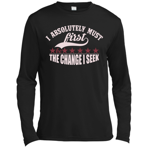 "Customized Spiritual Inspirational Affirmations Long Sleeve Moisture ""I Absolutely. . """