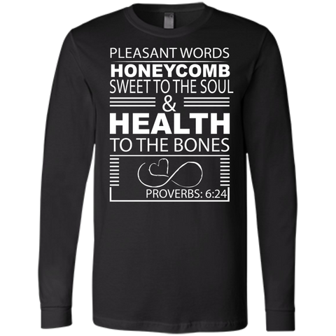 Customized Biblical Inspirational Affirmations Bella+Canvas Men's Jersey Long Sleeve - Well Being Addict.Com