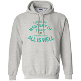 "Pullover Hoodie 8 oz- Positive, Inspirational Affirmation ""I Love my Mastery. . """