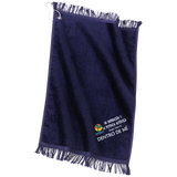 Custom Embroidered Grommeted Finger Tip Towel - Well Being Addict.Com
