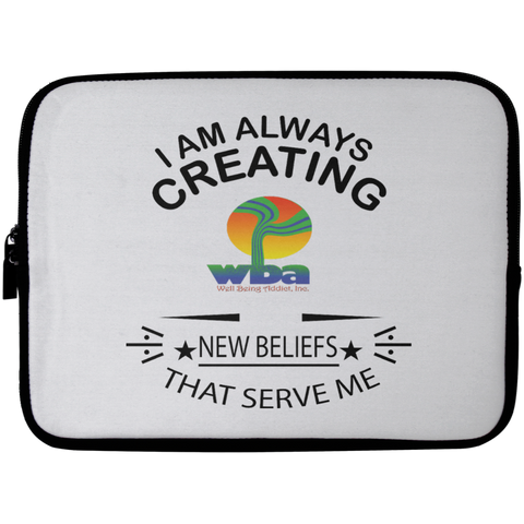Laptop Sleeve - 10 inch Spiritual Inspirational Affirmation LOA - Well Being Addict.Com