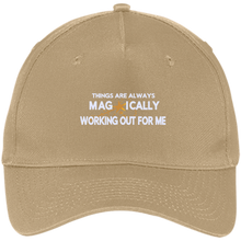 Load image into Gallery viewer, Five Panel Twill Cap Things are Always Magically Working Out for Me - Well Being Addict.Com