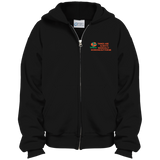 Customized Spiritual Inspirational Affirmations Youth Embroidered Full Zip Hoodie - Well Being Addict.Com