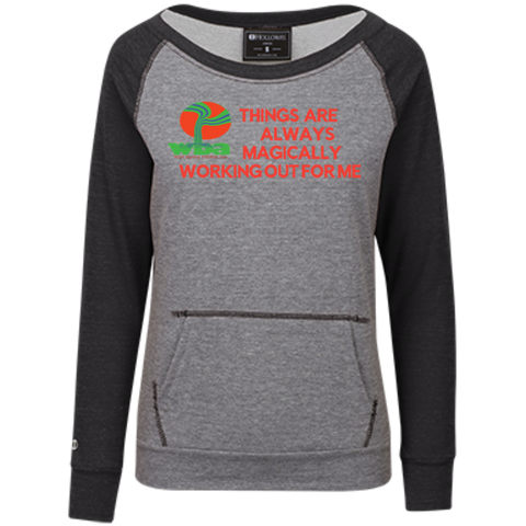 "Customized Spiritual Inspirational Affirmations Juniors' Vintage Terry Fleece Crew "" Things are Always. . "" - Well Being Addict.Com"