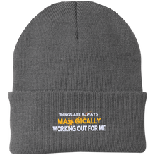 Load image into Gallery viewer, One Size Fits Most Knit Hat  Things are Always Magically Working Out for Me - Well Being Addict.Com