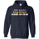 "HOODIE POSITIVE AFFIRMATION #WELLBEINGADICT ""THINGS ARE ALWAYS MAGICALLY WORKING OUT FOR ME"""