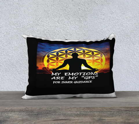 PILLOW DECOR, INSPIRATIONAL AFFIRMATIONS, WELL BEING 'MY EMOTIONS ARE. . .""