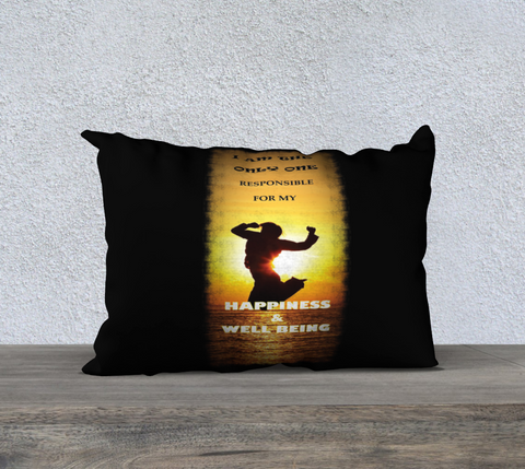 "PILLOW DECOR, SPIRITUAL INSPIRATIONAL AFFIRMATION, WELL BEING, ""I AM THE. . ."" - Well Being Addict.Com"