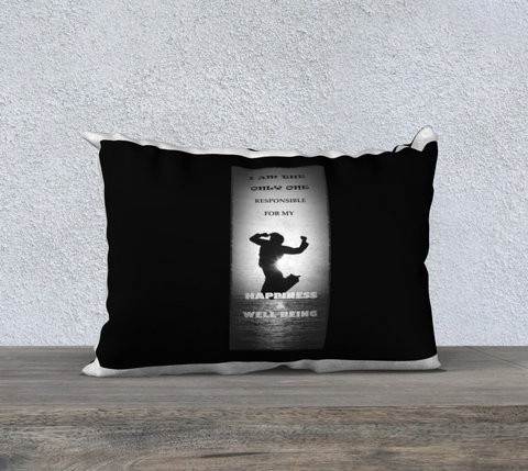 "PILLOW DECOR, SPIRITUAL INSPIRATIONAL AFFIRMATION, WELL BEING,  ""I AM THE ONLY. . "" - Well Being Addict.Com"